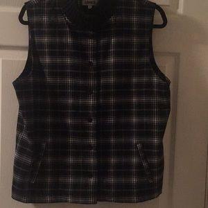 Black and white plaid vest size large